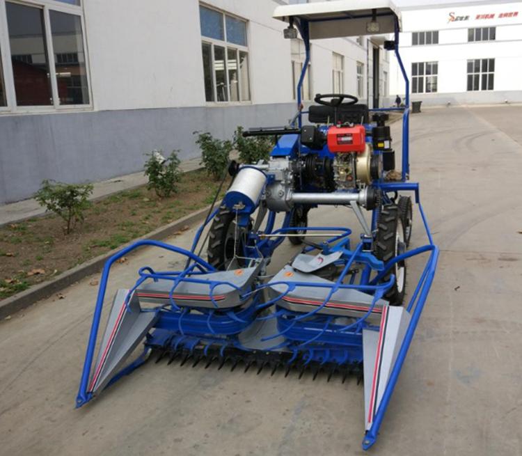 Diesel Engine 4 Wheel Sesame Harvester Reaper Binder Bcs
