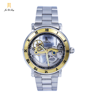 2017 Best Selling Automatic Mechanical Luxury Skeleton Wrist Watch for Men