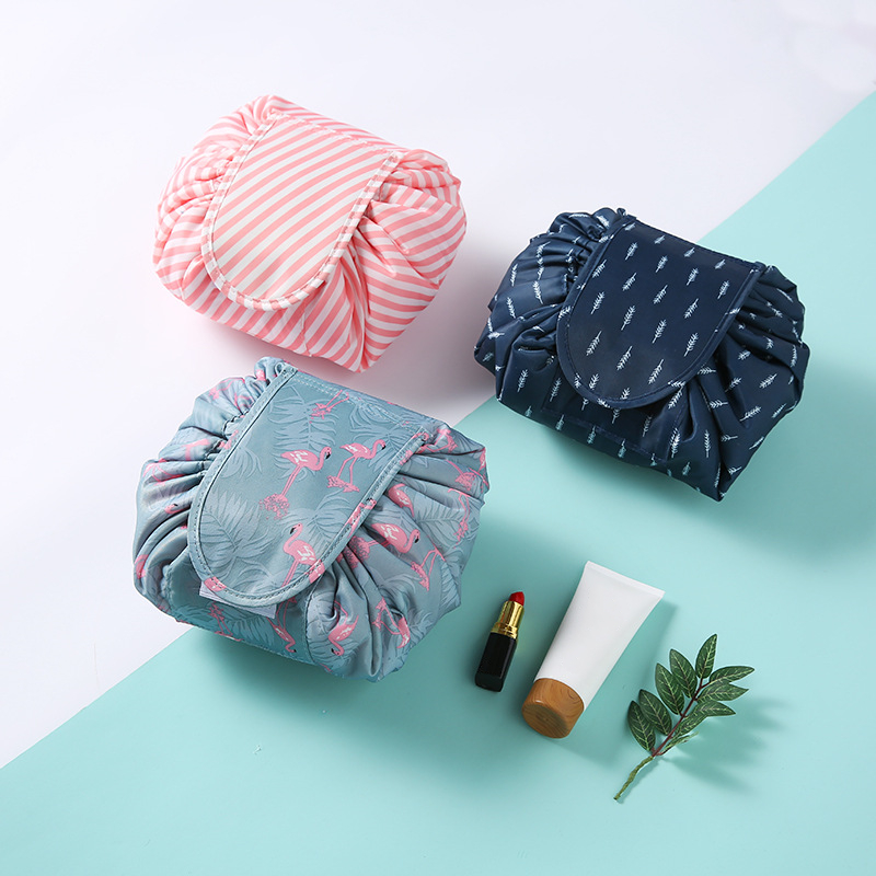 Fashion Waterproof Portable Hanging Travel Cosmetic Drawstring Bag best quality Makeup Pouch Bag