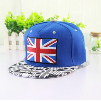 Paypal acceptable UK england flag Snapback hats Cheap Price Custom Your 3D Embroidery Logo,High Quality,Custom Snapback Caps