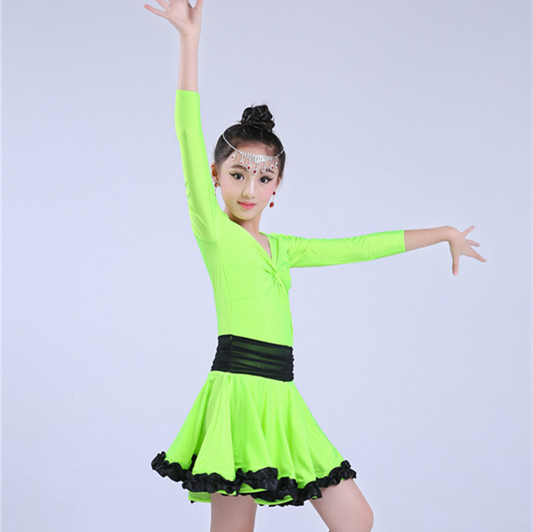 Polyester Knitted 4 Way Stretch Fabric Little Girl Milk Silk Dance Dress Fabric
