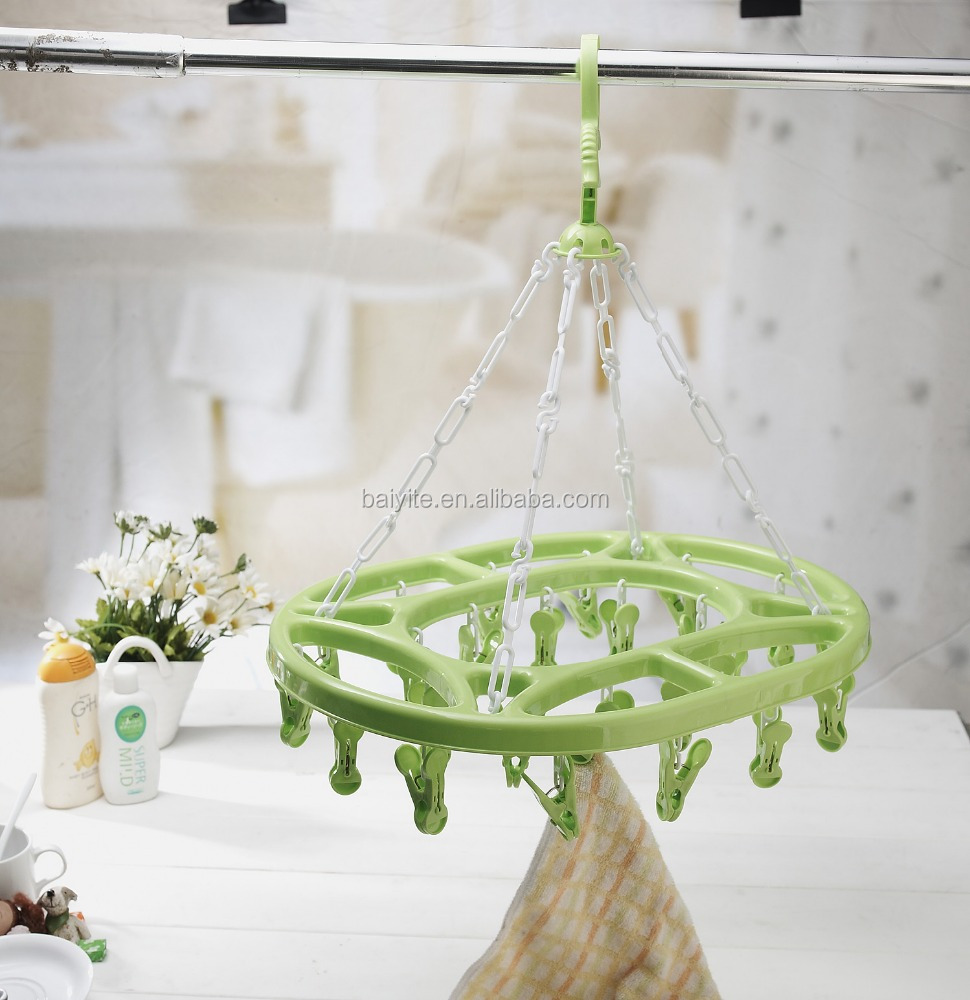 plastic hanger with 24 clips,laundry&drying hanger