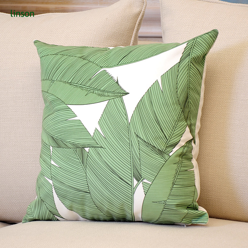Wholesale Custom Flower Printed Cotton Satin Cushion Cover Decorative Sofa Throw Pillow Cover