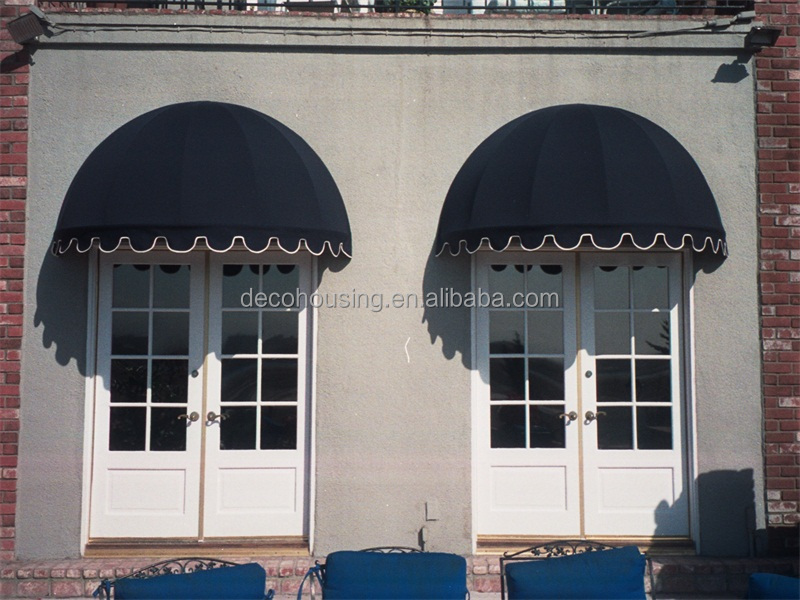 Simple design cheap manual awning/window dome awning/dome awning
