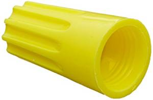 Easy-Twist Twist-On Wire Connector, Standard Type, 22-10 AWG Wire Range, 600V, Yellow (Box of 100) by NSI