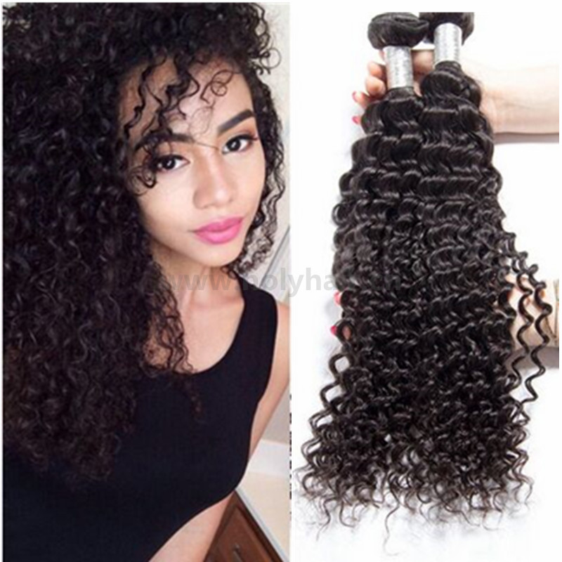 Wholesale Weave In New York Soft And Clean Virgin Curly Hair Weaving