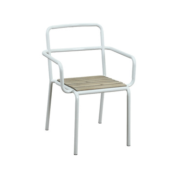 Gut Mitte Des Jahrhunderts Moderne Industrie Jahrgang Feststoff Recycling Holz  Esszimmer Vintage Möbel Pulverbeschichtung Stahlrohrrahmen Sessel