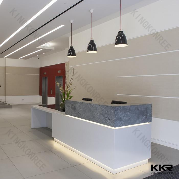 Office Cheap Custom Round Desk Big Size Hotel Used Reception