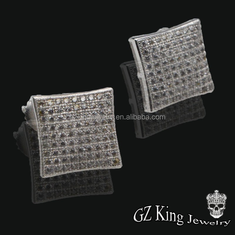 925 sterling silver cz stud earring pack cheap earrings made in china