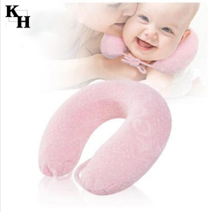 Cute Soft U-shape Memory Foam Neck Nursing Pillow for Baby