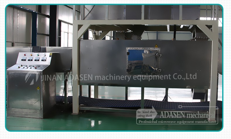Industrial tunnel type microwave thawing equipment