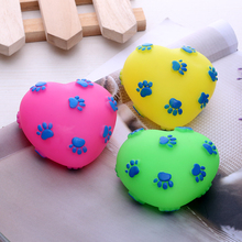 plush rubber pet toys dog toy manufactory love Shaped pet product supply