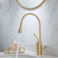 YL-02766GS water saving brass bathtub basin faucet luxury gold bathroom faucet