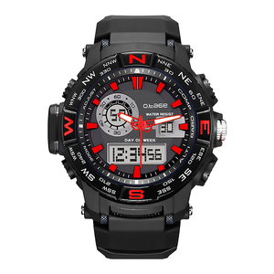 digital round watch call alarm men watch with day and date