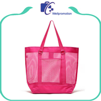 Customized mesh beach bags , ladies women beach bags handbag