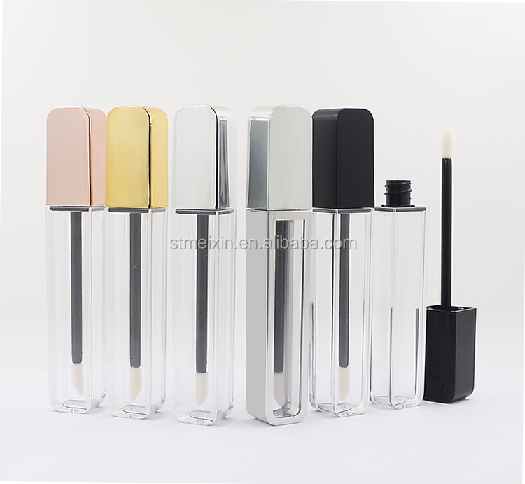 Free Sample Black Empty Lip Gloss Container Hersteller mit AS-Material