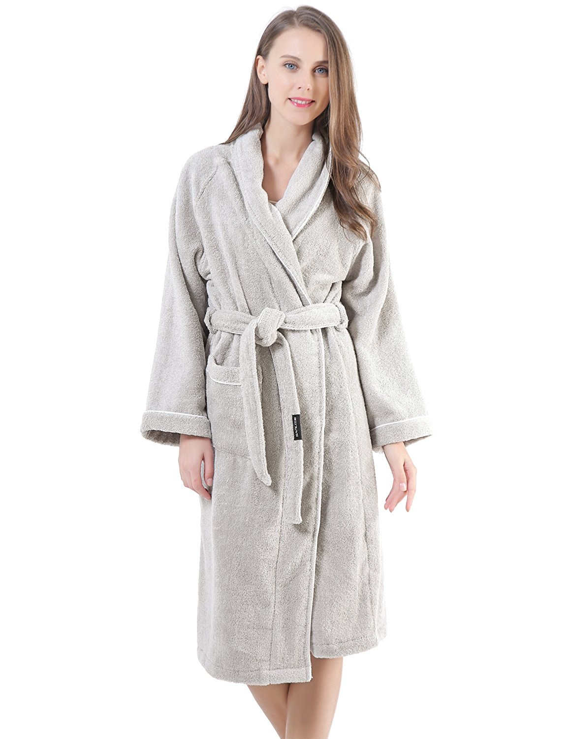 0e57ee97b7 Get Quotations · Sanli Terry Cotton Cloth Plush Bathrobe