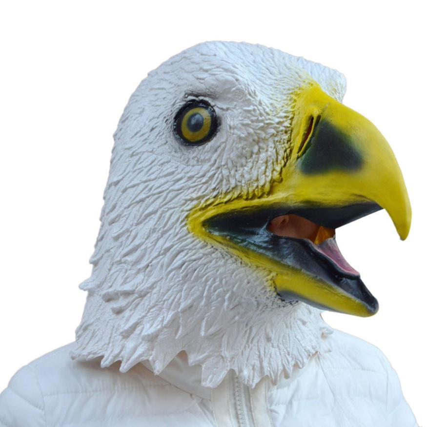 Hot selling New! Arrival Funny product Eagle Mask Latex Animal Costume Prop Cosplay Costume Party Latex Prop Animal Masks