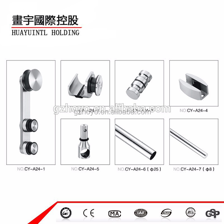 Stainless steel bathroom glass door accessory and hardware exporter from China