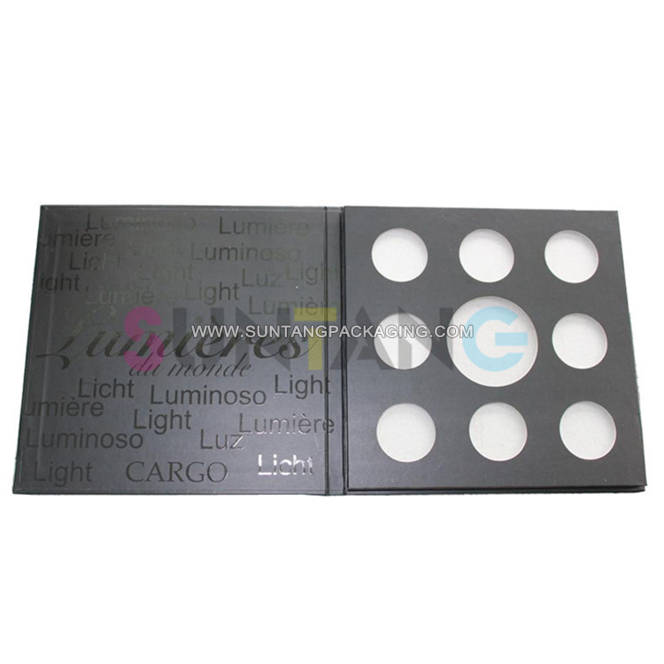 Custom Eyeshadow Palette Packaging Boxes Logo Printing Without Window And Mirror