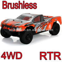 brushless rc car 1:10 4wd off-road short course truck with 2.4GHZ transmiter and waterproof ESC