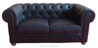 mid century Classic leather Chesterfield sofa