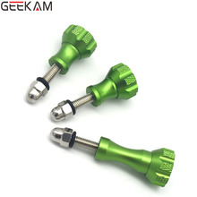 GEEKAM 3pcs/Set Hot Gopro Screws Accessories Green Thumb Knob Bolt Nut Screw For GoPro HD Hero 1 2 3 3+ 4 Mount sj4000 Xiaomi yi
