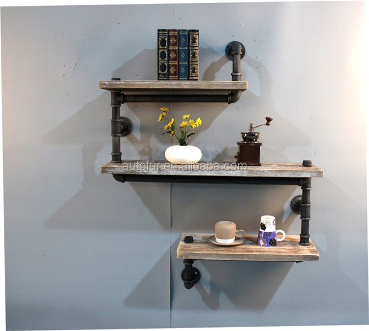 Industrial Pipe Shelving BookShelf Unit Reclaimed Wood Selection Pack