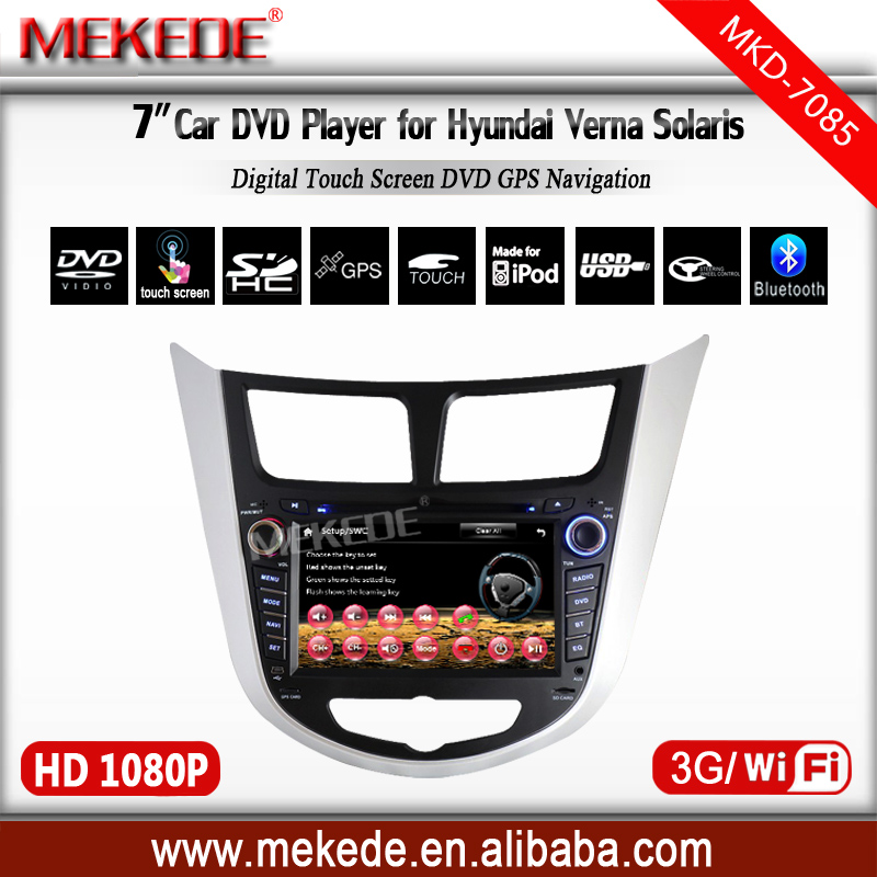 Only this month promotional price car dvd for Hyundai Verna Accent Solaris support Russian manual