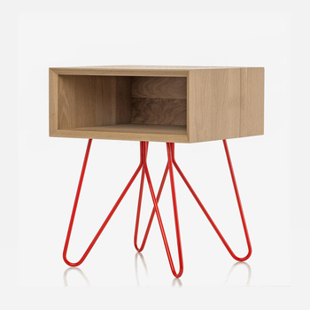 Diy Mid Century Nightstand Wooden Bedside Table Color Optional Hairpin Leg Cabinet Legs Product On