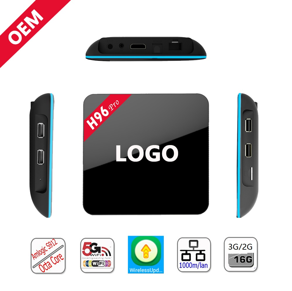 Goshine shen zhen set top box android tv box h96 pro più di 3 gb 32 gb abbonamento iptv set-top box 2017 hot new prodotti
