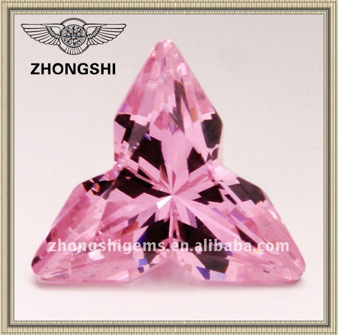 special pink fancy cut synthetic diamond