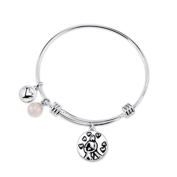 Baby Jewelry White Gold Sterling Silver Expandable Bracelets Charm