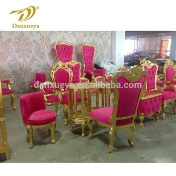 Luxury Nail Salon Furniture Hot Pink Velvet Pedicure Spa Chair For Beauty  Salon