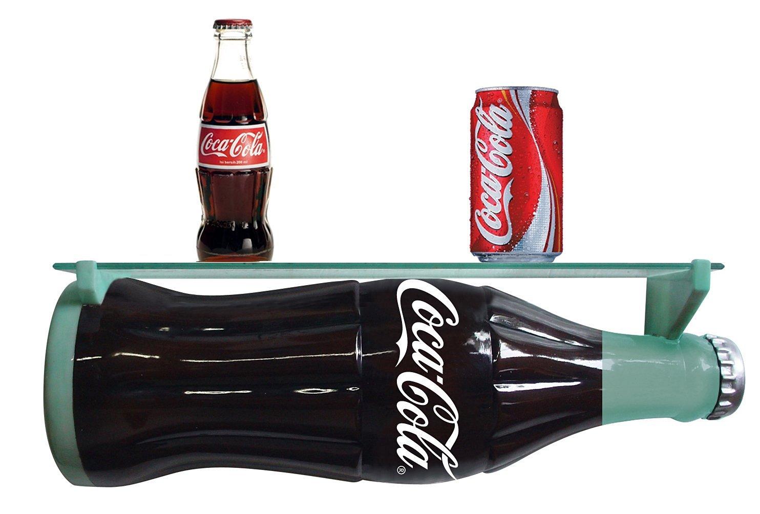 Retro Coca Cola Resin 3D Bottle Wall Shelf