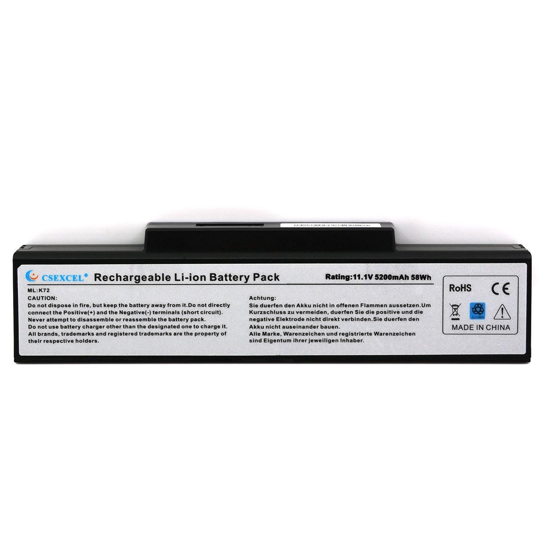 CSE® New Laptop Battery for ASUS A32-K72 A32-N71 K72F K72J K72JA K72JB K72JC K72JE K72JF K72JH K72JK K72JL [5200mAh 11.1V 6Cells 58WHr] - 12 Month Warranty