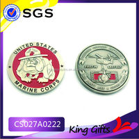 enamel paint ancient coin custom challenge coin with brushed silver