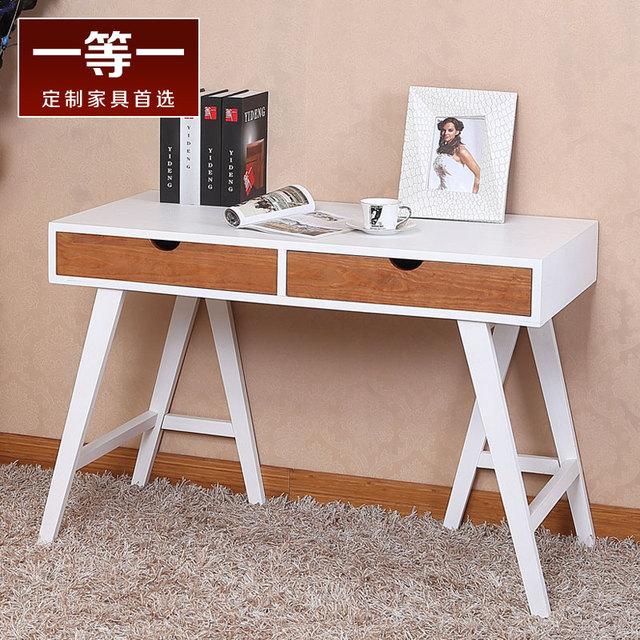 simple moderne et minimaliste table de bureau et bureau blanc bureau table d 39 ordinateur portable. Black Bedroom Furniture Sets. Home Design Ideas