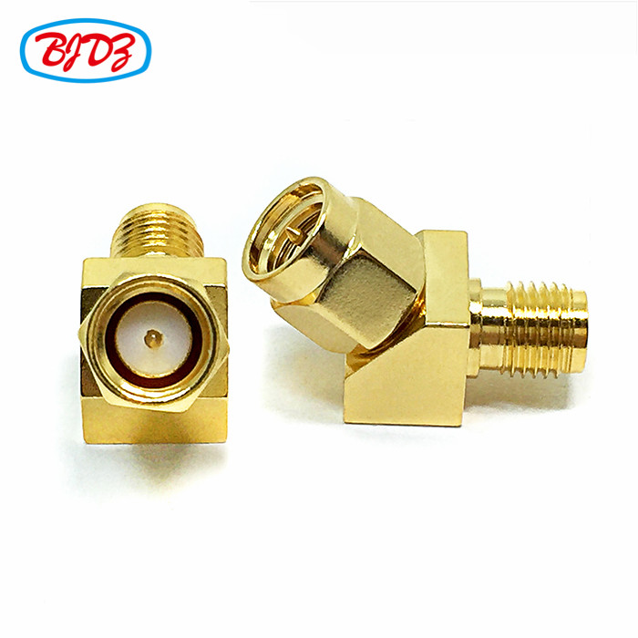 SMA P to J adapter RF terminal coaxial cable connector SMA male to SMA female 45 degree angle adaptor