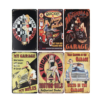 Wholesale Embossed Decorative Coffee Bar Vintage Style Metal Signs As Wall Decor
