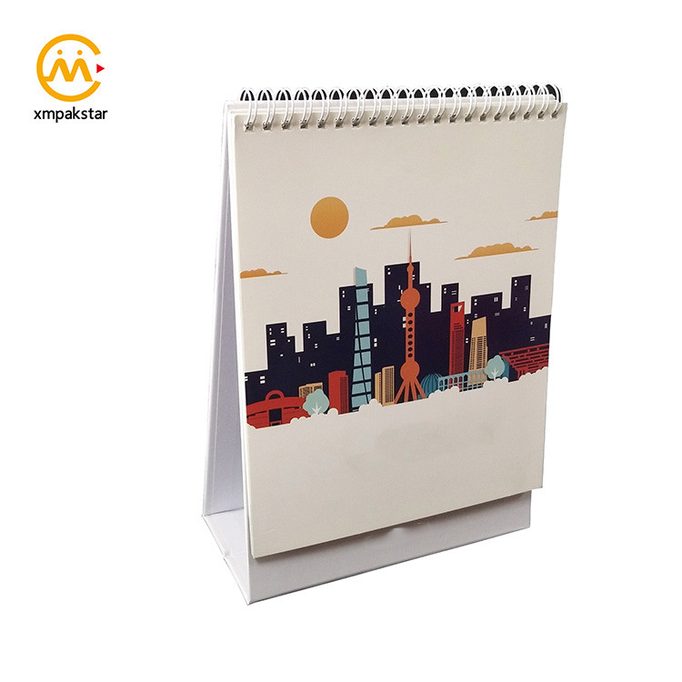 2020 Custom Printing Standing Desk Flip Calendars with Wire Binding