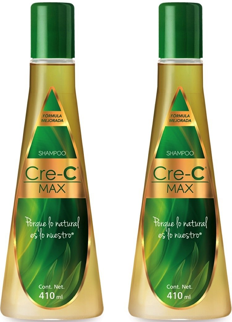 Shampoo Cre-C Max 13.86 Ounce (Pack of 2) - Official New Formulated Champu Cre-C with Ingredients Including Ginseng - Official Crece Hair Growth Stimulating Shampoo for Men and Women - Anti-Hair Loss Shampoo - For Hair Loss, Scalp Treatment and Dandruff Relief