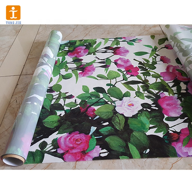Custom indoor flower decoration wallpaper stickers