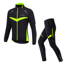 Pro men cycling wear Windproof Cycling Jerseys Set/Winter Thermal Fleece Cycling Jackets