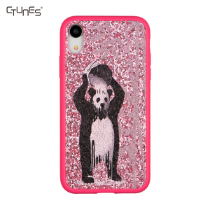 CTUNES Panda Ice Bucket Challenge Shockproof Glitter Sparkle Bling Hard Cover Soft TPU Bumper Protective Case For iPhone X / XS