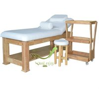 OAK WOOD massage bed 801#,High-end Beauty salon & spa furniture bigsiz
