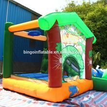 Baby backyard fun inflatable jungle theme bouncer slide