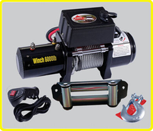 4wd 12v car hauler winch , ce approved electric winch 6000 , wood power winch for sale