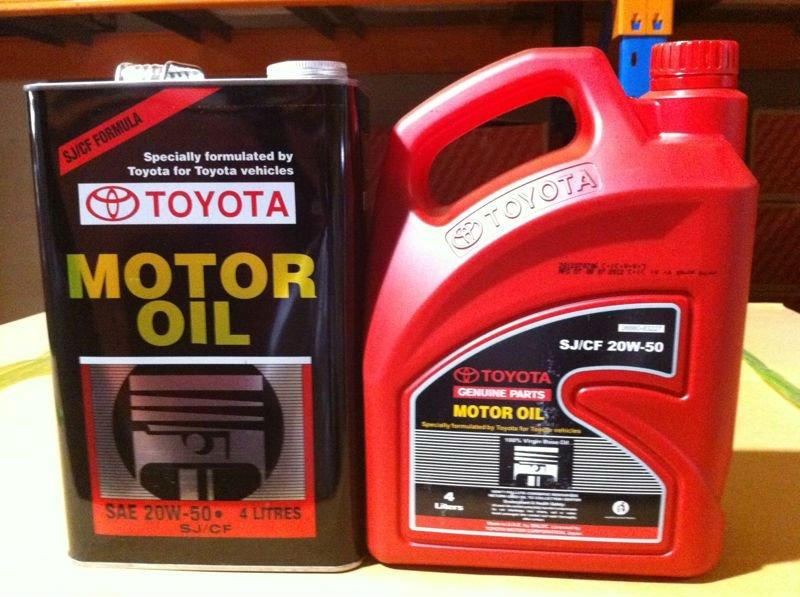 Toyota Aceite De Motor Lubricantes Identificaci N Del