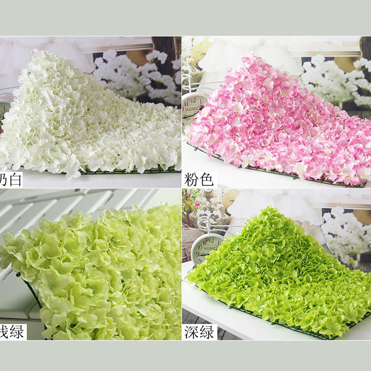 wedding hydrangea petals silk flower wall decoration